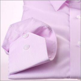 Chemise à fines rayures blanches et mauves
