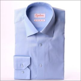Chemise bleu clair tissu pinpoint