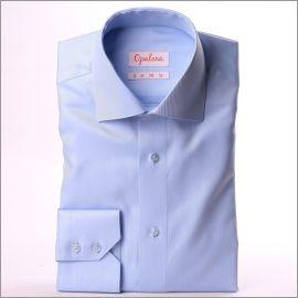 Chemise bleu clair tissu twill