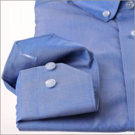 Chemise bleu moyen à col boutonné