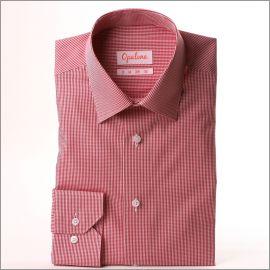 Chemise à carreaux Vichy rouges et blancs