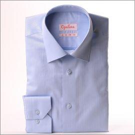 Chemise bleu clair rayée