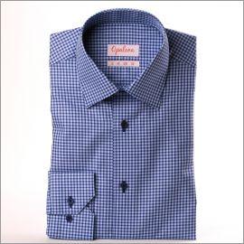 Chemise bleu clair à carreaux bleus