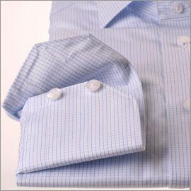 Chemise à petits carreaux bleu ciel