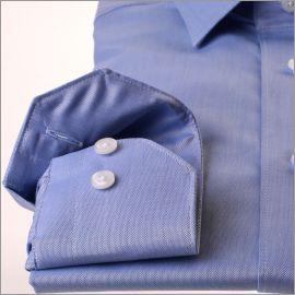 Chemise bleu tissu Pin Point