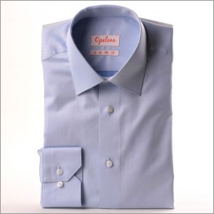 Chemise bleue tissu gabardine