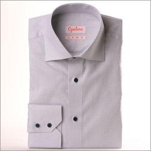Chemise Jacquard blanche à fines rayures bleues boutons bleus