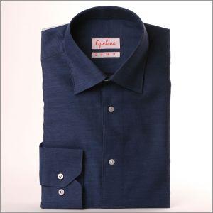 Chemise bleu jean en coton brossé