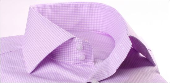 Chemise à carreaux Vichy mauves et blancs