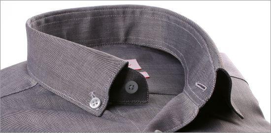 Chemise grise à col boutonné