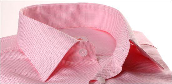 Chemise nattée rose
