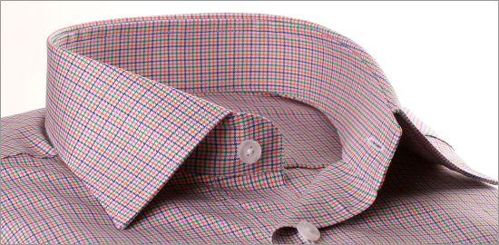 Chemise à petits carreaux multicolores
