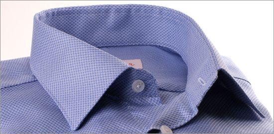 Chemise pied-de-poule bleu et blanc