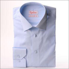 Chemise bleu clair tissu popeline
