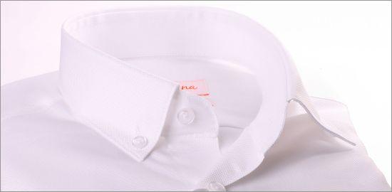 Chemise blanche tissu oxford à col boutonné